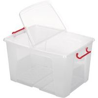 Office Depot Opbergdoos Transparant plastic 46 x 61 x 34,5 cm