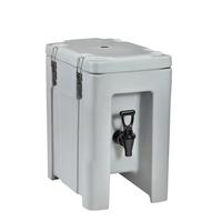 Art-Nr: QC050011 , Thermoisolierter Getränkebehälter QC 5, 4,3 Liter, Grau-Blau Melange, ETERNASOLID®