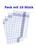 10 Stück Geschirrtuch blau - 50 x 70 cm - 70 g/Stück, Halbleinen- Halbleinen: