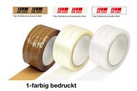 PP-Klebeband, bedruckt, 50 mm breit x 66 lfm, 50 µ, weiß, braun oder transparent