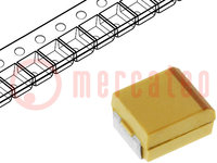 Kondensator: Tantal; 220uF; 6,3VDC; SMD; Geh: C; 2312; ±10%