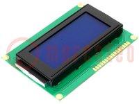 Kijelző: LCD; alfanumerikus; STN Negative; 16x4; kék; LED; 87x60mm