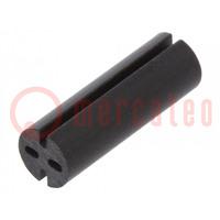 Distanční podložka; LED; Øprům: 5,1mm; ØLED: 5mm; Dl: 15mm; černá