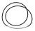 Farbauswahl: Kautschuk-Collier, 2mm ø