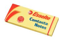 Haftnotiz Contacta-Notes, 50x40 mm, 100 Blatt, 3 Stück, gelb