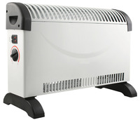 5 Star Facilities Convector Heater Electric 2 Heat Settings 2kW White and Black