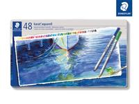 karat® aquarell 125 Hochwertiger, wasservermalbarer Farbstift Metalletui mit 48 sortierten Farben