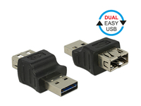 Adapter Dual EASY USB 2.0, Stecker A an Buchse A, Delock® [65640]