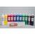 ART PLUS 12 flacons de 1 litre de gouache couleurs assorties avec 2 palettes offertes