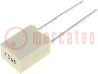 Kondensator: Polyester; 0,01uF; 200VAC; 400VDC; Rastermaß:5mm