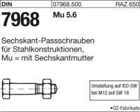 Sechskant-Paßschrauben M20x100