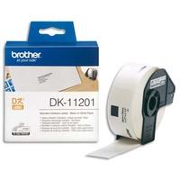 BROTHER Rouleau de 400 étiquettes prédécoupées d'adessage 29x90mm DK11201