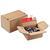 COLOMPAC Carton fond automatique, fermeture autocollante A5 21,3 x 10,9 x 15,3 cm