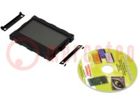 Display: LCD; grafisch; FSTN Positive; 128x64; schwarz; LED; PIN:32