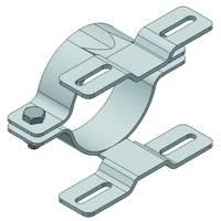 Technische Ansicht:, Doppel-Rohrschelle für Flach-VZ, (Art. r-d107)
