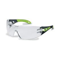 uvex Schutzbrille pheos 9192 225 HC/AF farblos schwarz/grün
