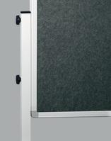 Legamaster Moderationswand ECONOMY, 120 x 150 cm, Grau, Stoffoberfläche