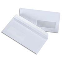 5 ETOILES Boîte de 500 enveloppes blanches 75g DL 110x220 mm fenêtre 35x100 mm auto-adhésives