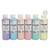 ART PLUS Lot de 6 flacons 250ml d'acrylique. Assortis pastel : Violet, Beige, Jaune, Bleu, Rose, Vert