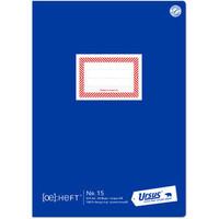 Schulheft, Nr. 15, liniert 9 mm, A4, 80 g/m², RC, weiß, 20 Blatt