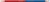 Premium-Buntstift STABILO® Original, 2,5 mm, ½ Rot - ½ Blau