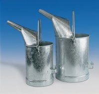 Messeimer aus Stahlblech, verzinkt, mit innenliegender Skala, eichfähig, 10 l, Gruppenbild