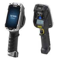"""Zebra TC8000 PDA 10,2 cm (4"""") 800 x 480 Pixels Touchscreen 490 g Zwart, Zilver"""