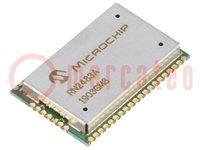 Module: transceiver; ADC, GPIO, UART; -148dBm; 2,1÷3,6VDC; 14dBm