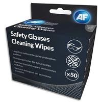 AF Boîte de 50 sachets individuel de lingettes nettoyantes pour lunettes de sécurité ASGCS50