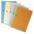 5 ETOILES Paquet de 20 pochettes coins en carte 120g, avec fen�tre. Dim: 22x31cm. Coloris assortis