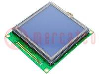 Kijelző: LCD; grafikus; STN Negative; 128x128; LED; 106x92x17,1mm