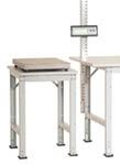 Beistelltisch PACKPOOL Spezial mit Kunststoffplatte, BxTxH = 500 x 600 x 722-1022 mm