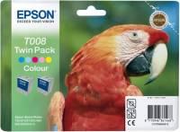 Epson Tintenpatrone Farbig T008, Doppelpack (Papagei)