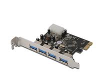 Schnittstellenkarte, PCI Express Add-on an 4x USB 3.0, Digitus® [DS-30221]