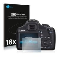 18x Savvies SU75 UltraClear Displayschutzfolie für Canon EOS 1100D