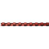 Bindrug 14mm, 21rings, A4, rood, 100 stuks
