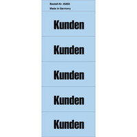 Inhaltsschild, Kunden, sk, perm., Pap., 57x28mm, blau