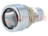 LED holder; 5mm; metal; convex; IP67
