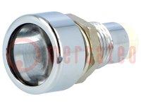 LED houder; 5mm; metaal; bol; IP67