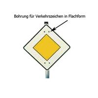 Anwendungsbeispiel:, Bohrung für Verkehrszeichen in Flachform, Art. 15199