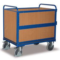 VARIOFIT Holzkastenwagen Transportwagen, Eigengewicht: 104 kg, Ladefläche: 1200 x 800 mm