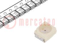 LED; SMD; 3528,PLCC2; rood; 4,5-18mcd; 3,5x2,8x1,75mm; 120°; 2mA