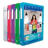 ELBA Boîte de classement transparente personnalisable POLYVISION 24 x 32 dos 4cm coloris assortis
