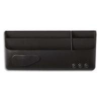 BI-OFFICE Boîte de ragement multi-usages magnétique Noire, 4 compartiments - Dim : L23 x H10 x P4 cm