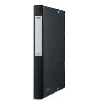 ELBA Boîte de classement EUROFOLIO carte lustrée, dos 4 cm, fermeture élastique, 24x32 cm, coloris noir