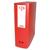 5 ETOILES Boîte de classement dos de 10 cm, en polypropylène 7/10e rouge
