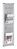 Wandprospektregal PRO, 3, DIN A4, 320 x 1140 x 30 mm, silber