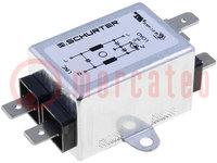 Filtr: odrušovací; 250VAC; 2mH; Cx:15nF; Cy:2,2nF; Iprac.max:3A