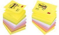 Post-it Bloc-note adhésif Z-Notes, 76 x 76 mm, 6 couleurs (9003306)