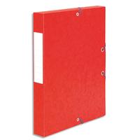 5 ETOILES Boîte de classement à élastique en carte lustrée 7/10, 600g. Dos 40mm. Coloris rouge.